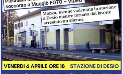 """""""Basta violenza"""", presidio in stazione"""