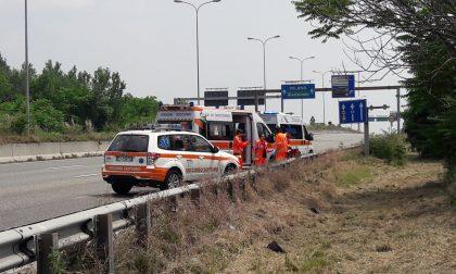 Incidente tra un'auto e una moto, Statale 36 in tilt