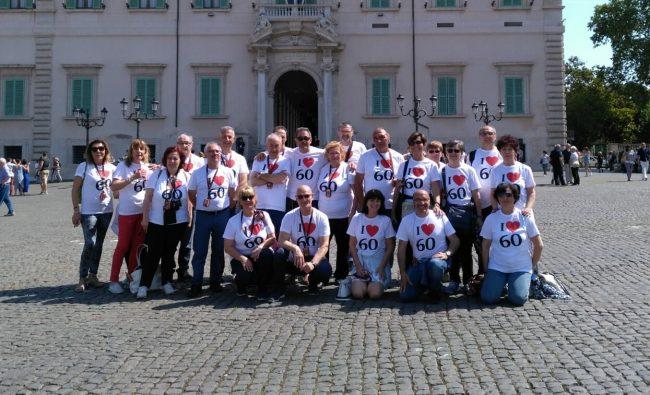 Festeggiano i sessant&#8217&#x3B;anni a Roma