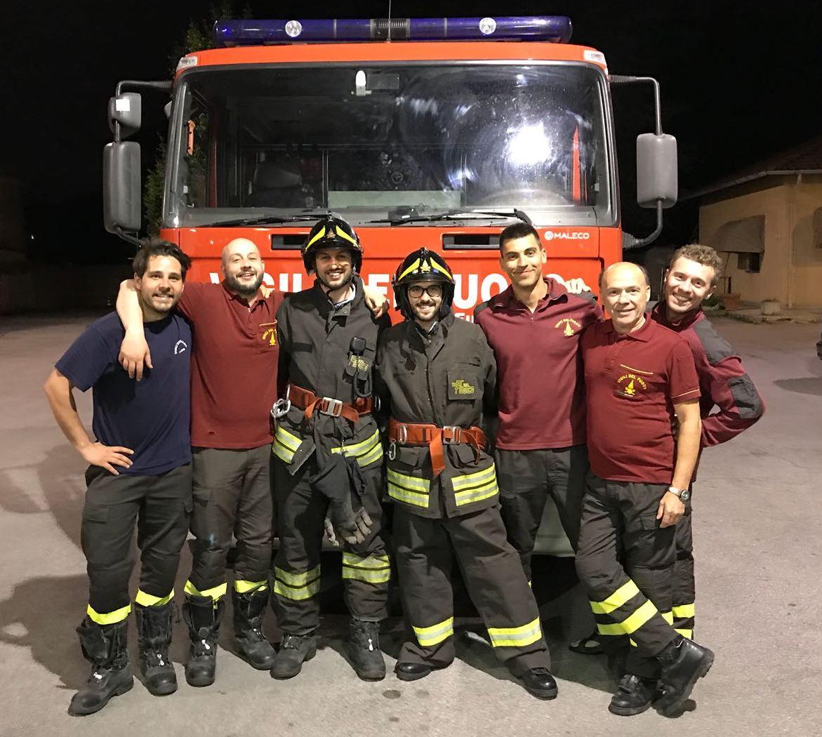 Lissone, una squadra dei Vigili del fuoco