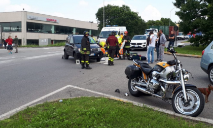 Grave incidente lungo la Provinciale ferito un motociclista FOTO