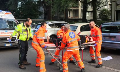 Incidente tra moto e bici in via San Gottardo: due feriti