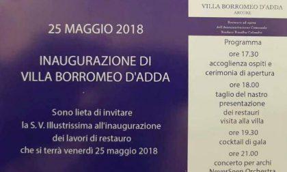 Inviti falsi per Villa Borromeo, denuncia contro ignoti del sindaco