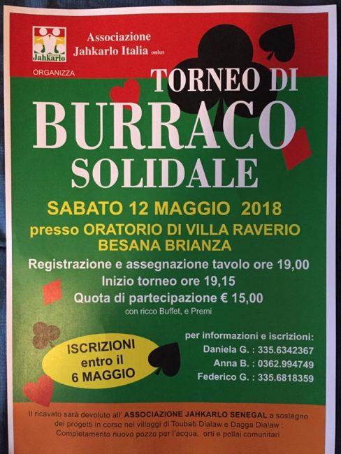 Carte e beneficenza sabato sera all'oratorio di Villa Raverio