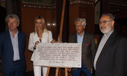 Inaugurata la targa per don Peppino Arosio