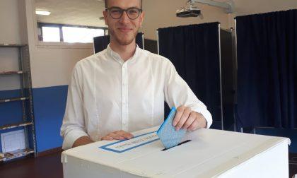 Elezioni comunali a  Macherio, Federico Ferrario  al seggio