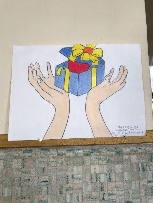 I ragazzi disegnano per l'aido