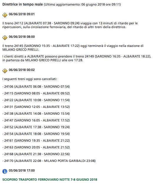 Sciopero trasporti, disagi per gli utenti tra il 7 e l'8 giugno