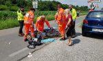 Grave incidente, motociclista soccorso in codice rosso VIDEO E GALLERY