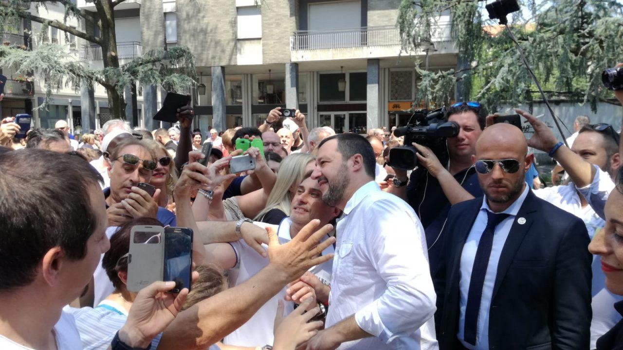 Matteo Salvini a Seregno per sostenere Ilaria Cerqua