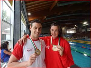 Sanna e Rousseau Rane Rosse nuoto