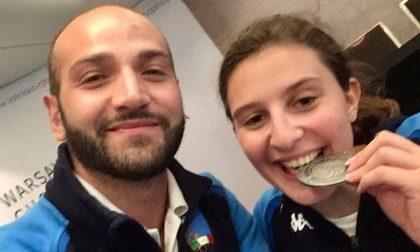 Sofia Brunati, atleta paralimpica, porta a Robbiano la  medaglia d'argento dei Campionati Mondiali