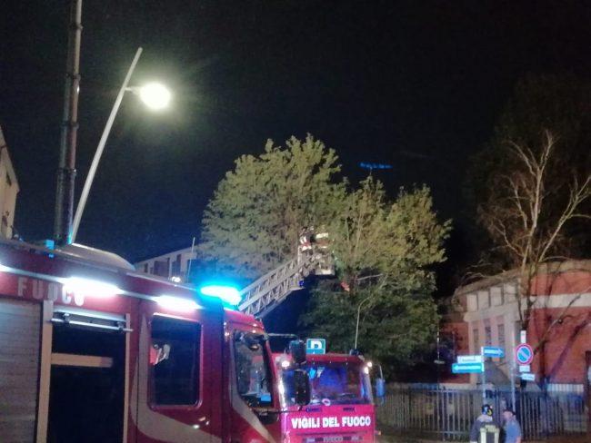 Temporale, Vigili del fuoco in azione a Cederna