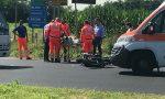 Incidente provinciale Monza Trezzo: cade dalla moto e finisce in ospedale