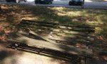 Degrado al parchetto, panchine rotte e corvi che rovistano tra i rifiuti