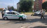 Scontro auto moto a Seregno, centauro in ospedale FOTO