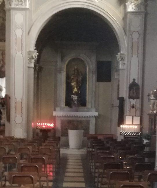 violata la madonna della chiesa di montesiro