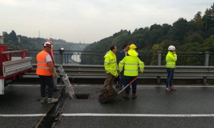 Nuovi lavori al ponte di Trezzo sull'Adda