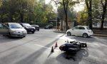 Incidente tra auto e scooter, traffico in tilt lungo viale Brianza
