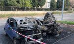 Incendio all'alba a Carate Brianza, a fuoco due auto