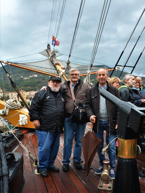 Verano, ex combattenti a bordo dell' Amerigo Vespucci
