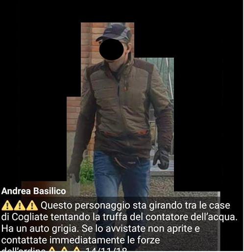 Presunto truffatore porta a porta: il sindaco leghista mette la foto su Facebook