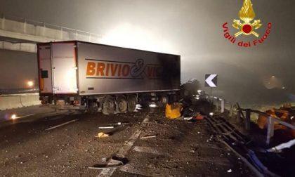 Incidente in autostrada coinvolto camion Brivio e Viganò