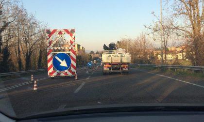 Lavori ad Usmate traffico bloccato in tangenziale est