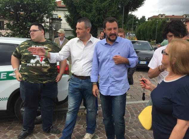 Anche 300 bergamaschi in piazza a Roma con Salvini: