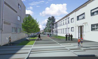 Una nuova piazza tra i due istituti scolastici