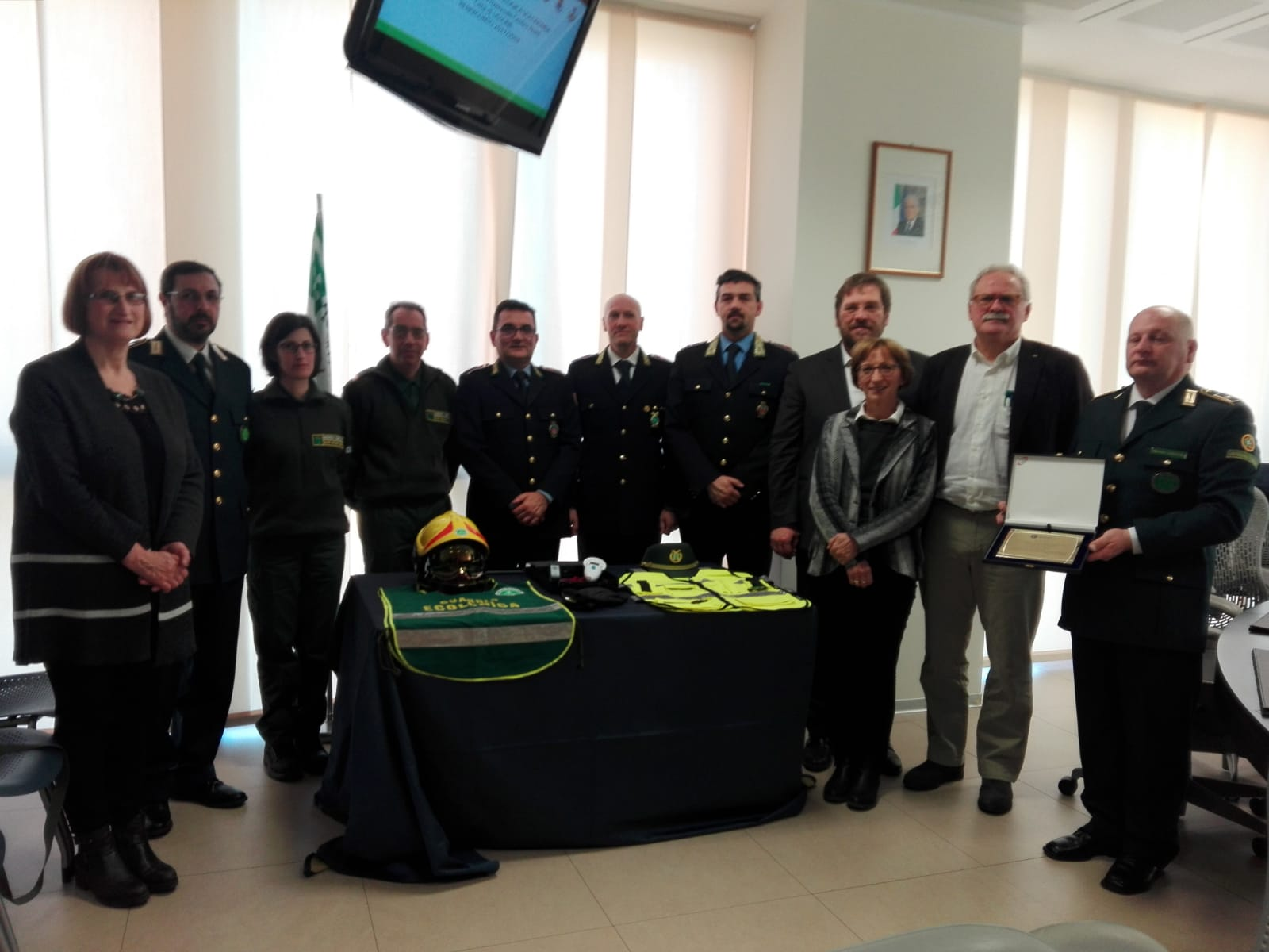 Guardie ecologiche volontarie di Lissone premiate in Provincia