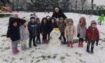Giussano,  arriva la neve ed è festa all'asilo Proserpio