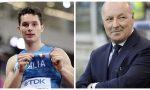 Filippo Tortu premiato a Milano con Beppe Marotta