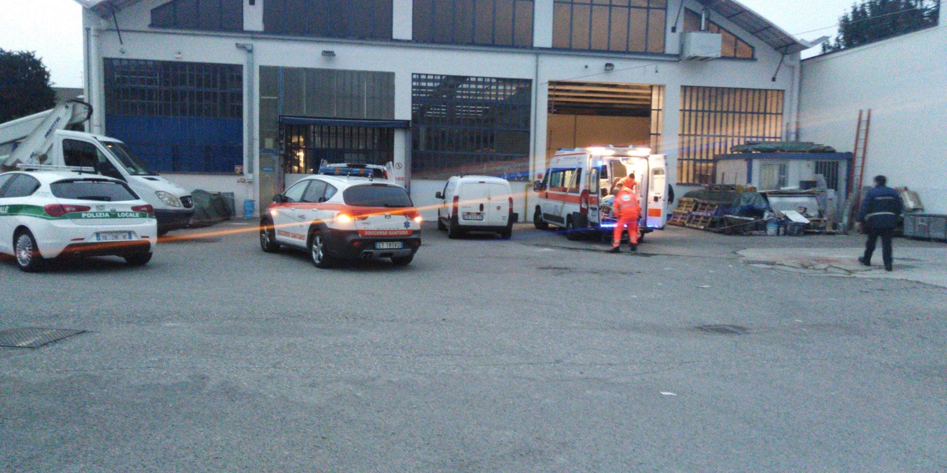 Lissone incidente sul lavoro in via Monza