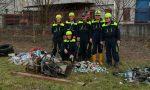 Protezione civile al lavoro nel verde deturpato dagli incivili FOTO