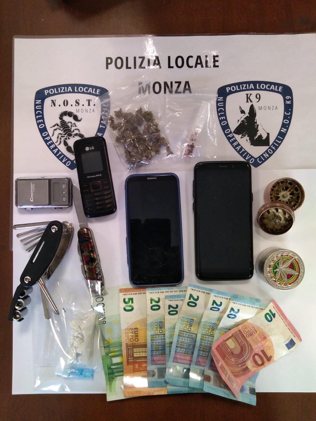 Spacciatore di cocaina arrestato in stazione a Monza