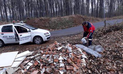 Discariche abusive a Lentate, al lavoro i volontari dell'Anc FOTO