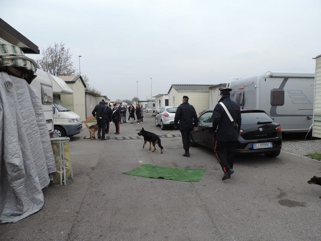 Lissone blitz Campo nomadi quattro persone denunciate