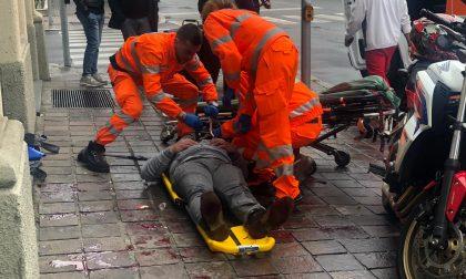Cade dalla moto, ferito un 51enne  FOTO E VIDEO