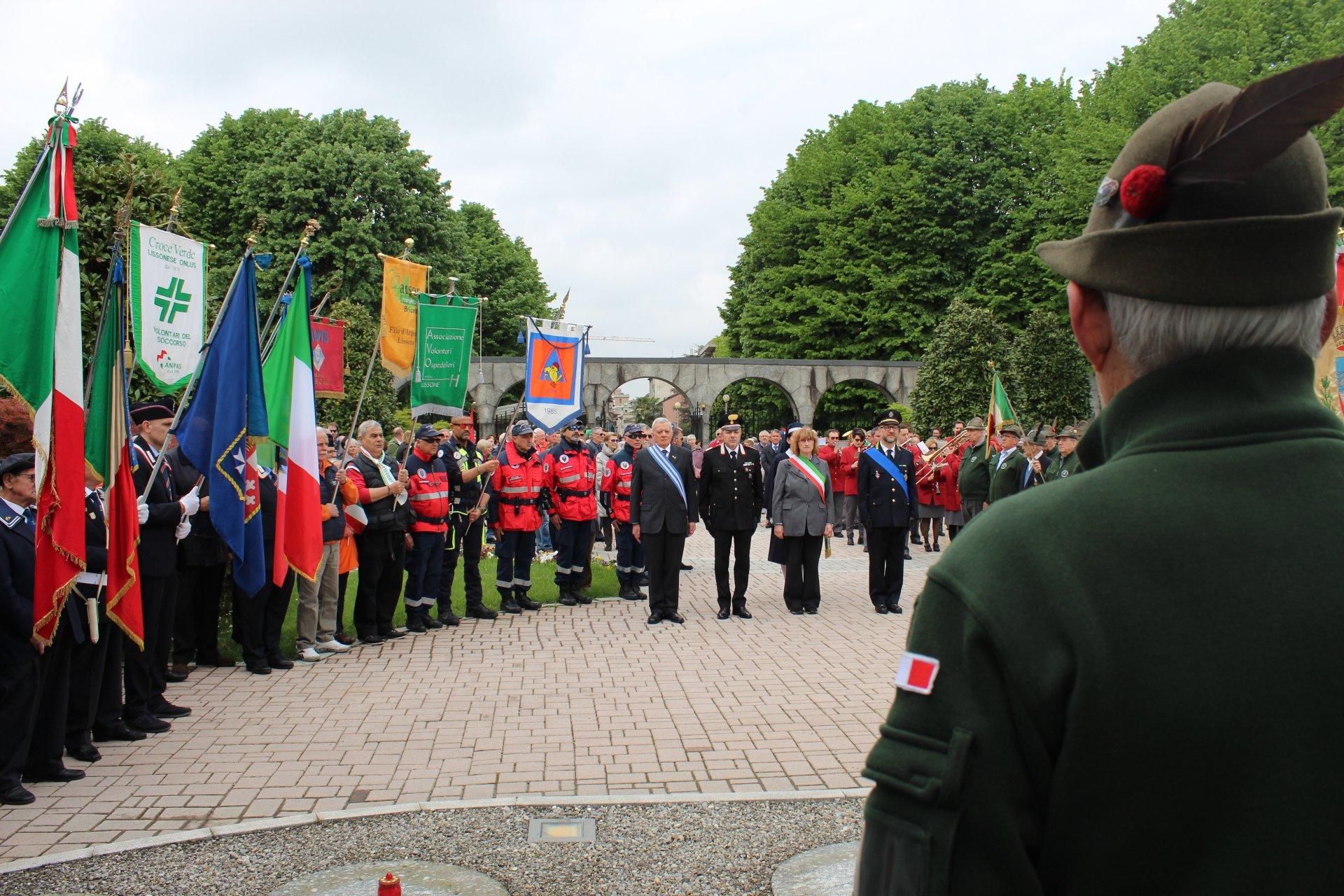 Lissone, cerimonia 25 Aprile 2019
