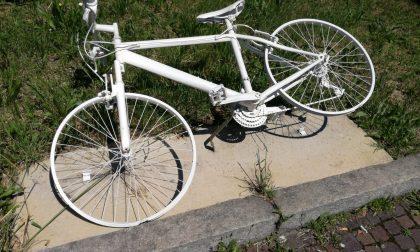 Ancora vandalizzata la bicicletta in memoria di Matteo Trenti