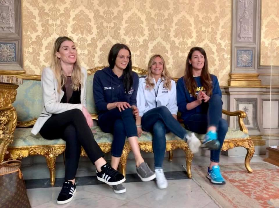 Serena Ortolani premi a Palazzo Chigi pallavolo Vero Volley