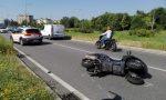 Grave incidente tra auto e moto in viale Lombardia FOTO