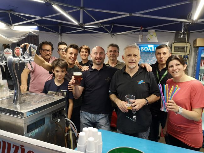 Cesano Maderno, festa a Binzago, i volontari degli Amici di Binzago