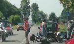 Scontro auto moto, centauro ferito in codice rosso