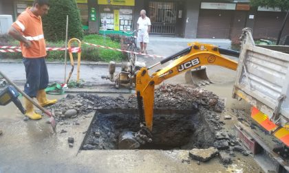 San Rocco: BrianzAcque al lavoro per riparare la condotta idrica