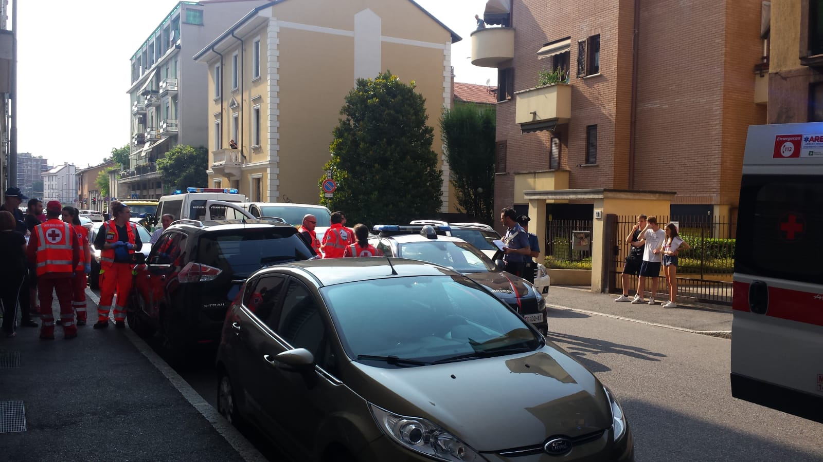 Incidente in via Rota, tamponati i Carabinieri FOTO