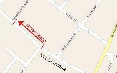 Nuovo senso unico in via Obizzone a Bernareggio
