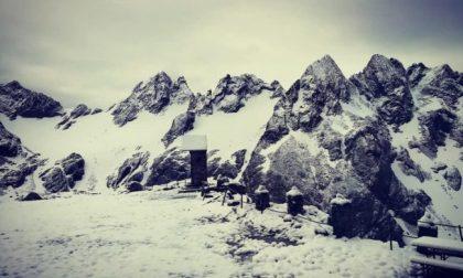 Nevicata a Luglio in Valmalenco, lo spettacolo del Rifugio Carate FOTO