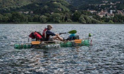 Dall'Adda al Mare Adriatico su una barca fatta con bottiglie di plastica